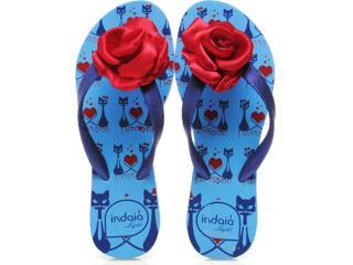 Chinelo Feminino Indaia L102 Blue/azul - Tamanho Médio