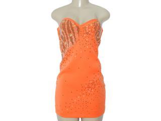 Vestido Feminino Moikana 8033 Laranja - Tamanho Médio