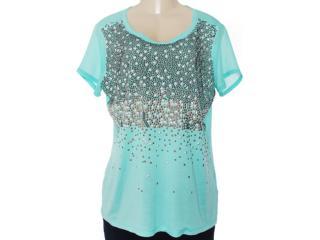 Camisa Feminina Lafort E13v635 Verde Agua - Tamanho Médio