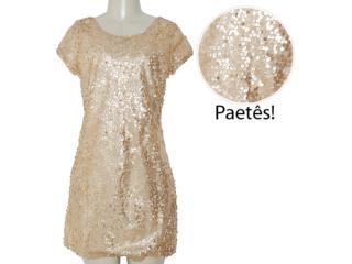 Vestido Feminino Alpelo 36894 Dourado - Tamanho Médio