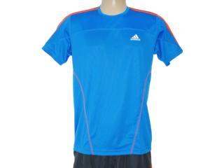 Camiseta Masculina Adidas W49977 Azul/laranja - Tamanho Médio