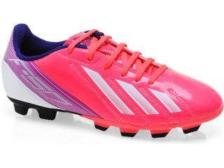 Chuteira Feminina Adidas G65436 f5 Trx fg w Pink roxo branco 2f652abb8b3cb