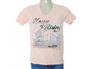 Camiseta Masculina Dzarm 6byu Lkv10 Salmão - Tamanho Médio