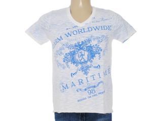 Camiseta Masculina Dzarm 6byw Au610 Branco/azul Bic - Tamanho Médio