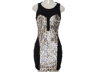 Vestido Feminino Lado Avesso 82609 Onca - Tamanho Médio