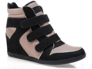 Sneaker Feminino Ramarim 12-70202 Preto/avelã - Tamanho Médio