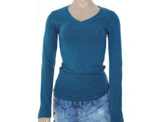 Blusa Feminina Lado Avesso 82401 Azul Petróleo - Tamanho Médio