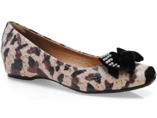 Sapato Feminino Tanara 4541 Natural/preto - Tamanho Médio