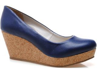Sapato Feminino Brenners 9000 Azul Naval - Tamanho Médio