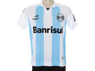 Camiseta Masculina Grêmio C1095m Branco/azul Claro - Tamanho Médio