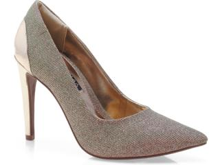 Sapato Feminino Ramarim 13-63102 Avelã/ouro - Tamanho Médio