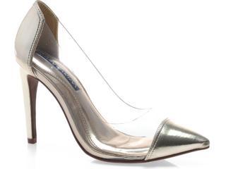 Sapato Feminino Ramarim 13-63104 Ouro/transparente - Tamanho Médio