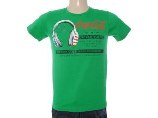 Camiseta Masculina Coca-cola Clothing 353203327 Verde - Tamanho Médio