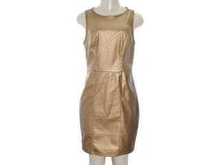 Vestido Feminino Coca-cola Clothing 443201073 Dourado - Tamanho Médio