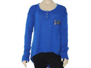 Blusa Feminina Moikana 9111 Azul - Tamanho Médio