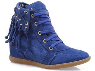 Sneaker Feminino Anna Brenner 1948 Azul - Tamanho Médio