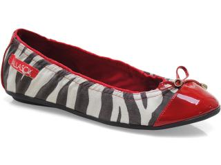Sapatilha Feminina Ballasox 2237251 Zebra/marfim/preto/tomate - Tamanho Médio