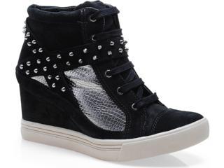 Sneaker Feminino Via Marte 13-3908 Preto/prata Velha - Tamanho Médio