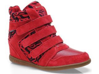 Sneaker Feminino Kolosh C0096 Vermelho - Tamanho Médio