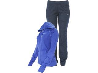 Abrigo Feminino Nike 521879-487 Classic Jersey Com Capuz Roxo/chumbo - Tamanho Médio