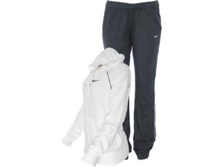 Abrigo Feminino Nike 521879-140 Classic Jersey Com Capuz Branco/chumbo - Tamanho Médio