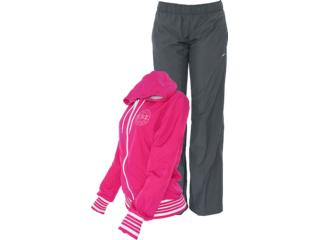 Abrigo Feminino Nike 521885-670 Hooded Taffeta Pink/chumbo - Tamanho Médio
