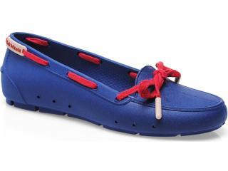 Sapato Feminino Soft Mania 911 Marinho/vermelho - Tamanho Médio