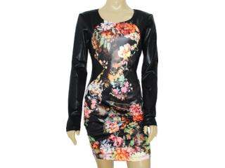 Vestido Feminino Coca-cola Clothing 443201345 Floral Preto - Tamanho Médio