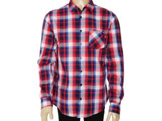 Camisa Masculina Coca-cola Clothing 313200378 Xadrez Vermelho - Tamanho Médio