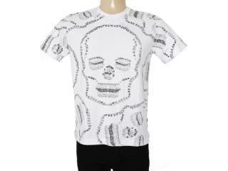 Camiseta Masculina Cavalera Clothing 01.01.7157 Branco - Tamanho Médio