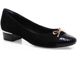 Sapato Feminino Ramarim 13-90104 Preto/ouro - Tamanho Médio