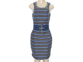 Vestido Feminino Dopping 018033009 Estampado Azul - Tamanho Médio