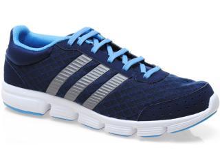 Tênis Masculino Adidas Q34117 Breeze m Marinho/prata/azul/branco - Tamanho Médio