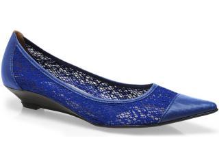 Sapato Feminino Bruna Brenner 1900 Azul - Tamanho Médio
