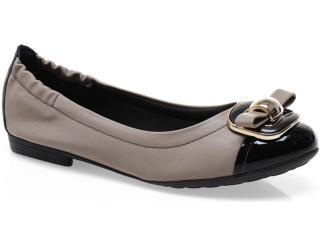 Sapato Feminino Piccadilly 100.166 Taupe/preto - Tamanho Médio