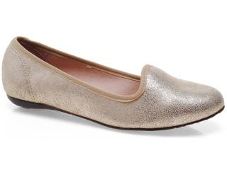 Sapato Feminino Moleca 5007250 Ouro/bege - Tamanho Médio