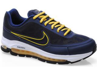 Tênis Masculino Nike 506179-400 Air Max Nitro Marinho/amarelo - Tamanho Médio
