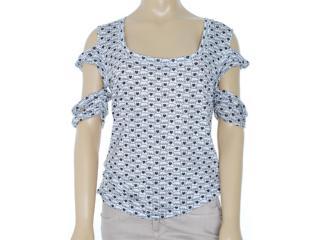 Blusa Feminina Dopping 015652551 Branco/preto - Tamanho Médio