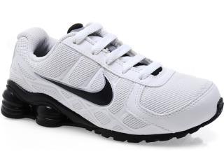 new arrivals 08fb4 887db Tênis Uni Infantil Nike Shox Turbo 454469-100 Branco preto