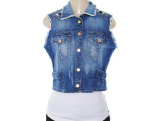Colete Feminino Lado Avesso 82261 Jeans - Tamanho Médio