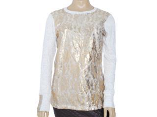Blusa Feminina Dopping 015653013 Ouro - Tamanho Médio