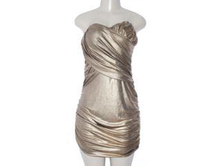 Vestido Feminino y Exx 18639 Dourado - Tamanho Médio