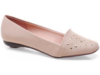 Sapato Feminino Moleca 5062254 Bege - Tamanho Médio