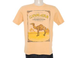 Camiseta Masculina Cavalera Clothing 01.01.7060 Amarelo Queimado - Tamanho Médio