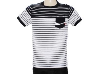 Camiseta Masculina Coca-cola Clothing 353203329 Preto/branco - Tamanho Médio