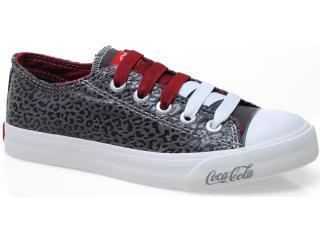 Tênis Feminino Coca-cola Shoes Cc0004 Grafite - Tamanho Médio