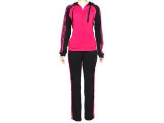 Abrigo Feminino Adidas F49378 Young Knit Pink/preto - Tamanho Médio