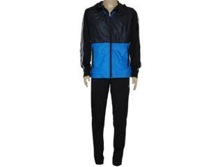 Abrigo Masculino Adidas F49169 Young kn oc Chumbo/azul/preto - Tamanho Médio