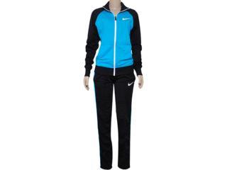 Abrigo Feminino Nike 639138-407 Polywarp Raglan W-up Were  Azul/preto - Tamanho Médio