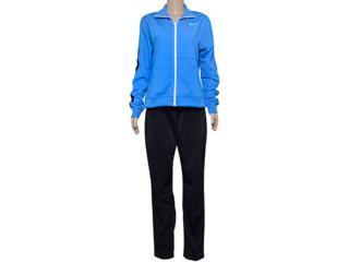 Abrigo Feminino Nike 683662-435 Poly Knit Azul/preto - Tamanho Médio